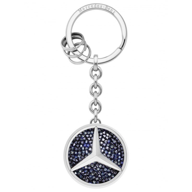 Брелок Mercedes-Benz Key Ring, St. Tropez, Silver-coloured / Blue
