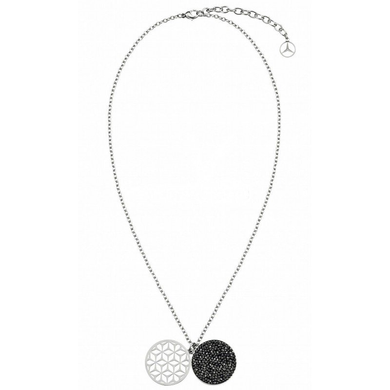 Женское ожерелье Mercedes Women's Necklace Seoul, Silver / Black
