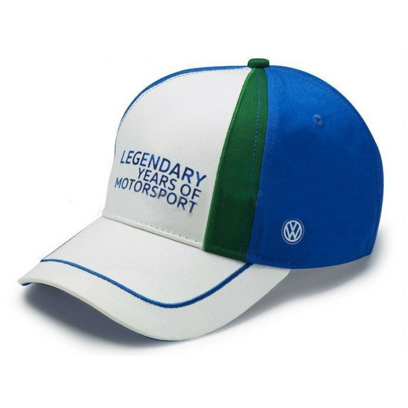 Бейсболка Volkswagen Baseball Cap, Legendary years of Motorsport, Blue/Gre